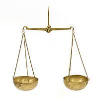 Старые чашечные подвесные весы, аптекарские, ювелирные, латунь, Индия, фото 1