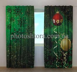 Фото шторы Новогодняя веточка