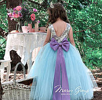 Детское нарядное платье для девочек Ева