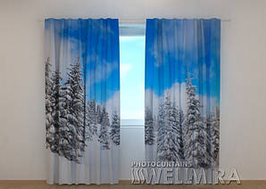 Фото шторы Зима в лесу