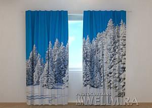Фото шторы Зима в лесу 2