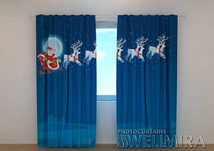 Фото шторы новогодняя Дед Мороз