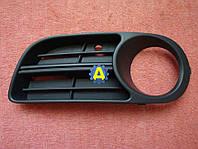 Решетка в бампер передний левая и правая на Шкода Фабиа (Skoda Fabia) 2005-2007