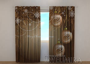 Фото шторы новогодняя Снежинки