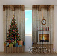 Фото шторы Новогодний интерьер