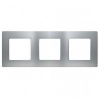 Рамка 3-местная Алюминий ETIKA LEGRAND 672553