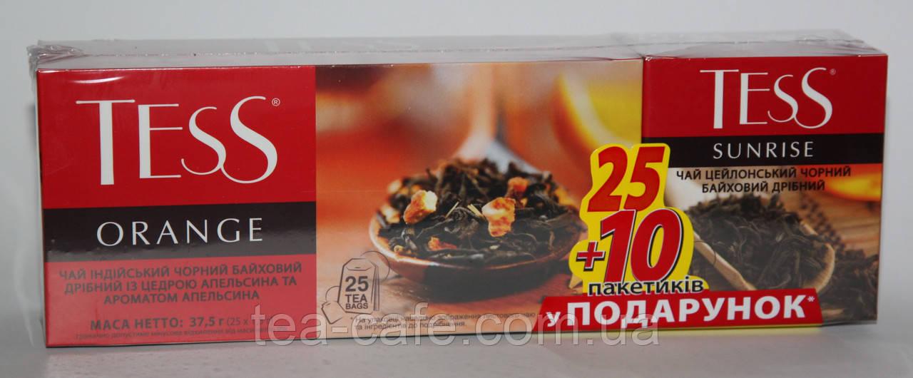 Чай ТЕСС черный Оранж 25пак.+10пак. в подарок