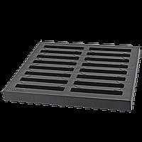 Решетка водоотлива квадратного черная (колодец) 300х300