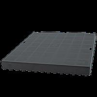Крышка водоотлива квадратного черная (колодец) 300х300