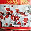Комплект постільної білизни Тирасполь двоспальний сублімація маки на білому