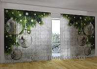 Панорамные фото шторы Серебро