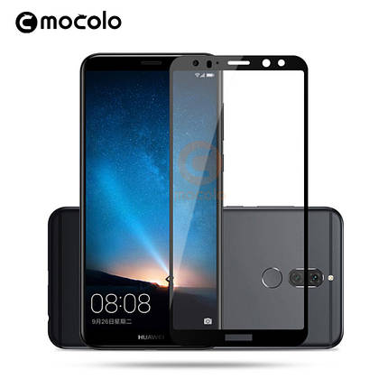 Защитное стекло Mocolo Full сover для Huawei Mate 10 Lite черный, фото 2