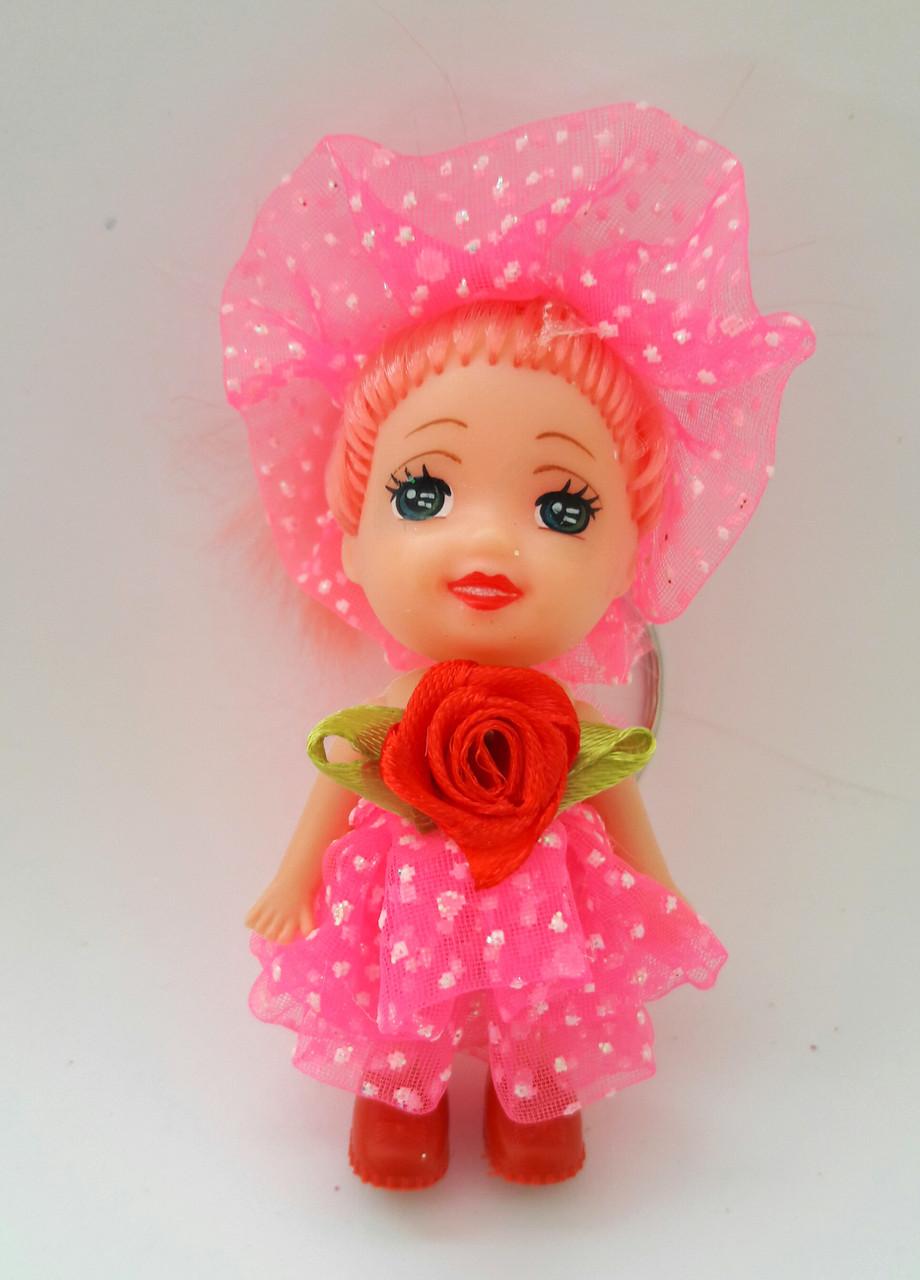 Игрушка для букетов Кукла в шляпе и платье 1 штука