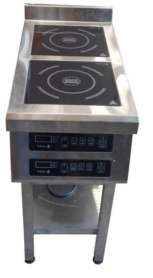 Плита индукционная Tehma,  2х конфорочная, напольная ,3,5Квт