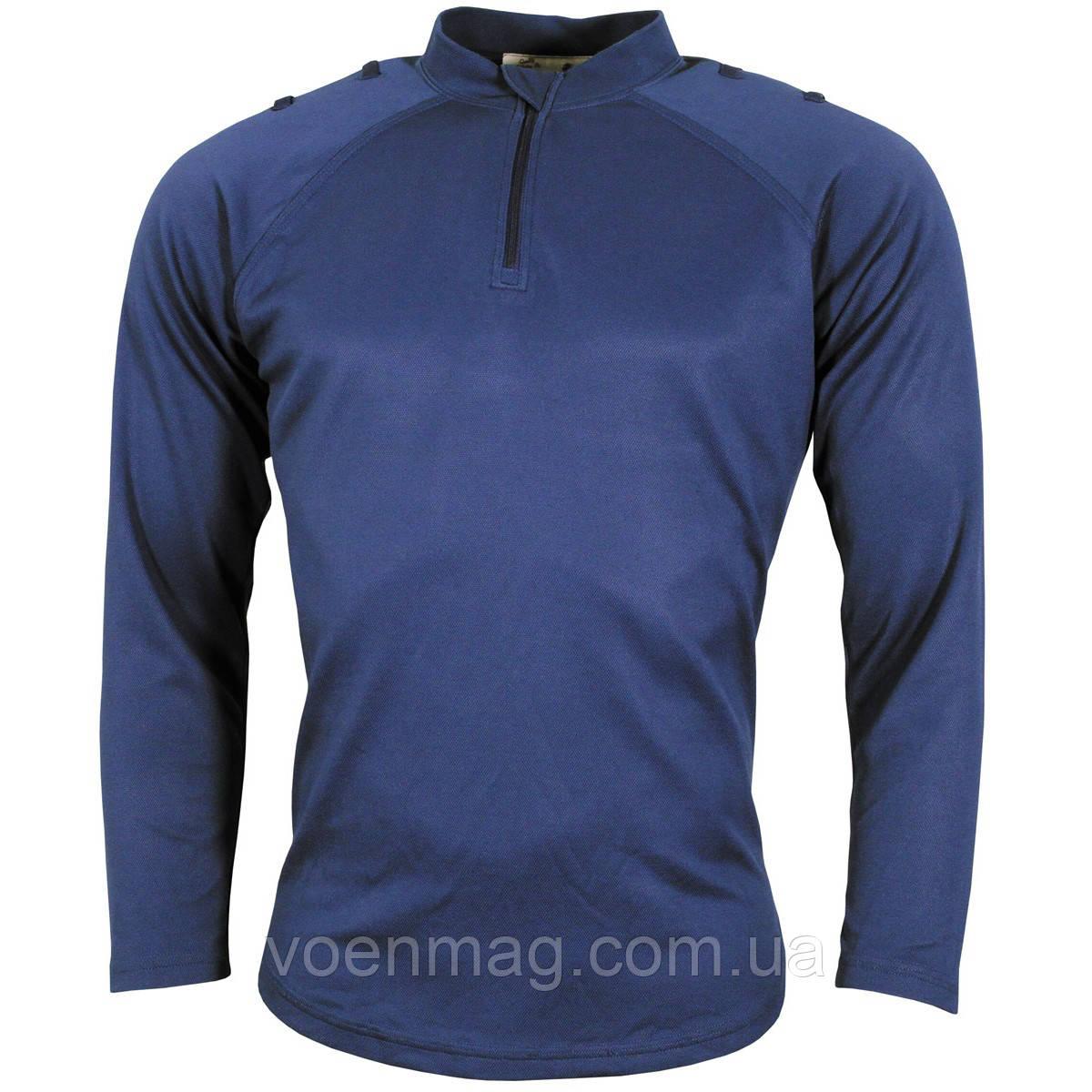 Футболка CoolMax полиции Великобритании, длинный рукав, синяя, б/у, фото 1