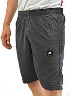 Легкие мужские трикотажные серые шорты Nike