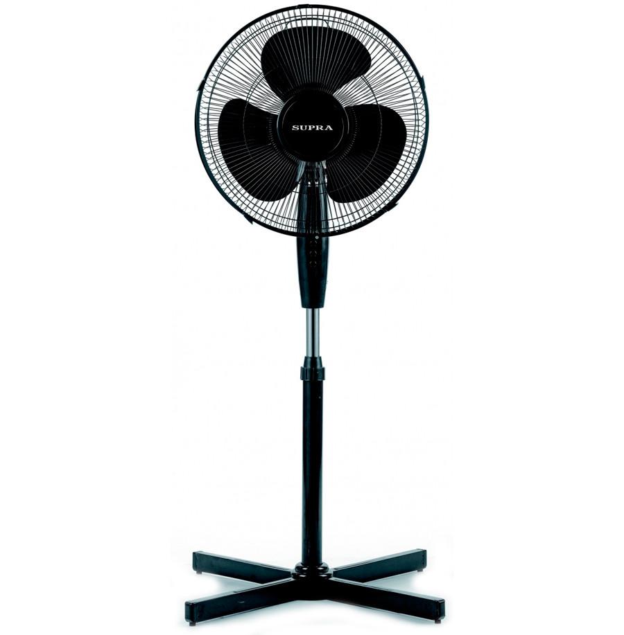 Вентилятор напольный Supra SSF-30 Black,  30W, 3 скорости, диаметр 30