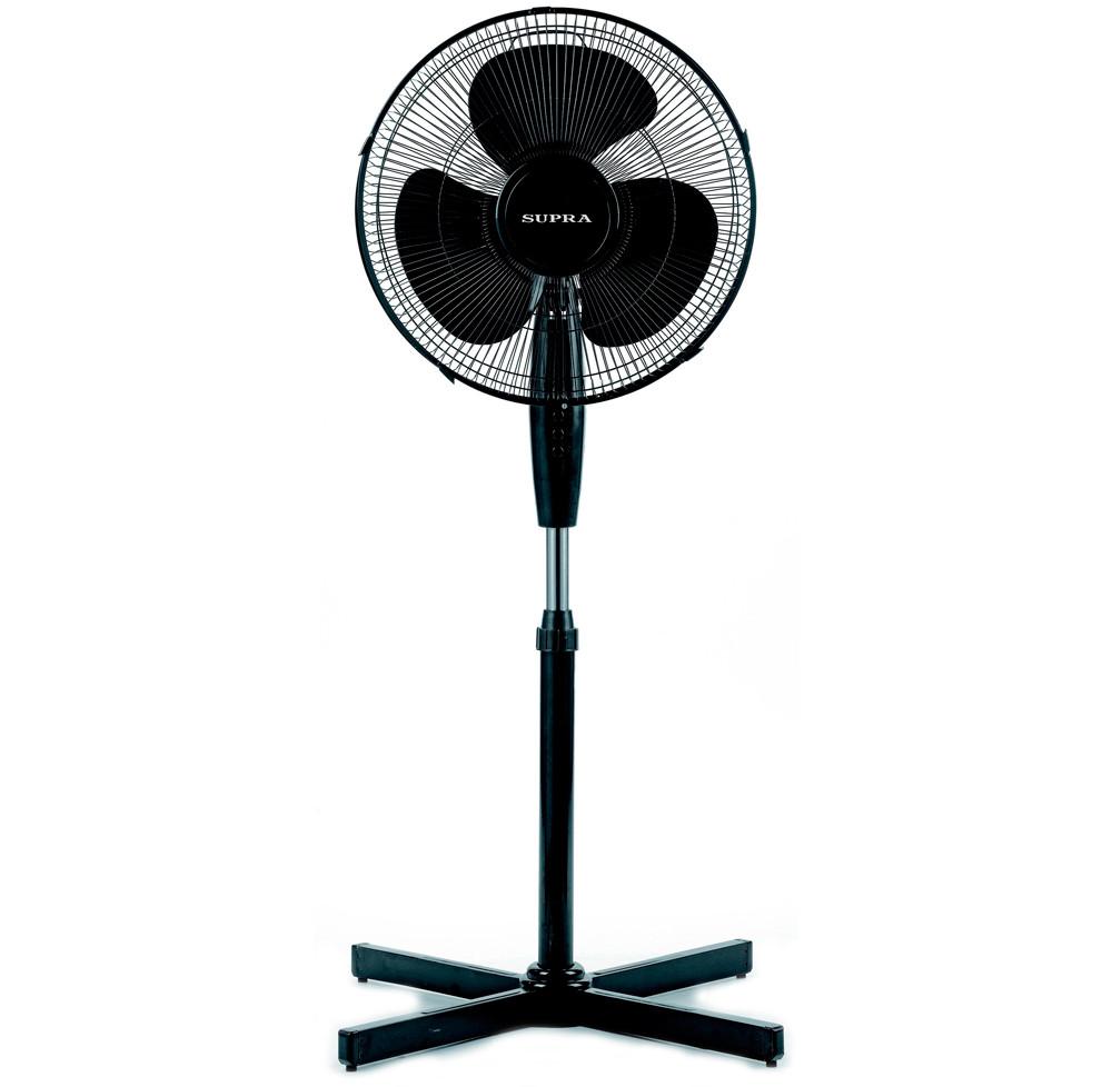 Вентилятор напольный Supra SSF-40BR Black, 45W, 3 скорости, диаметр 40