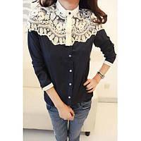 Рубашка женская с кружевом