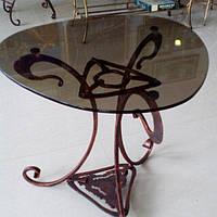 Журнальный столик художественная ковка коричневый