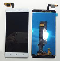 Оригинальный дисплей (модуль) + тачскрин (сенсор) для Xiaomi Redmi Note 3 (белый цвет, 147*73mm)