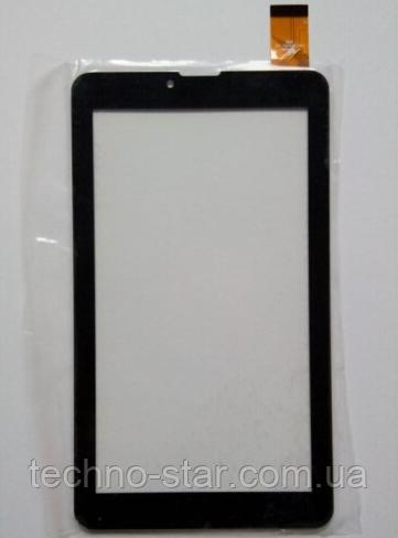 Оригинальный тачскрин / сенсор (сенсорное стекло) для Bright&Quick BQ 7008G/BQ (черный цвет, самоклейка)