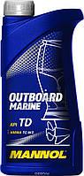 Моторное масло Mannol  Outboard 2-Takt Premium API TD 1 л  TC-W3