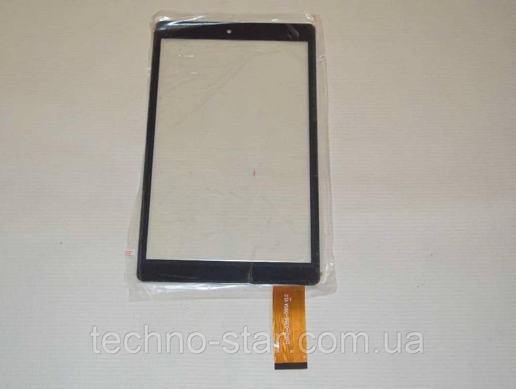 Оригинальный тачскрин / сенсор (сенсорное стекло) для Bravis WXi89 3G (черный цвет, тип 1, самоклейка)