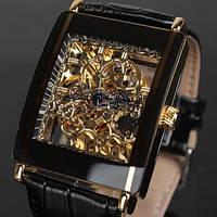 Мужские квадратные механические часы, фото 1