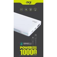 Зовн. акум. DIGI LP-107 QC 2.0 - 10000 mAh Li-pol (Білий)