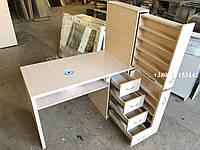 Маникюрный стол с ящиками карго  Модель V236 дуб молочный, фото 1