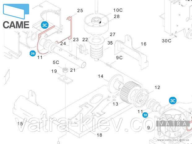 втулка редуктора Came BX-74-78 119rbx058 купить цена