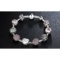 Серебряный женский браслет в стиле Pandora