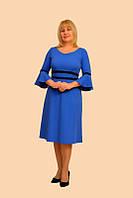 """Платье """"Клеш"""" — м. 863 (цвет корал, как под фото)  (48р) (ф)"""