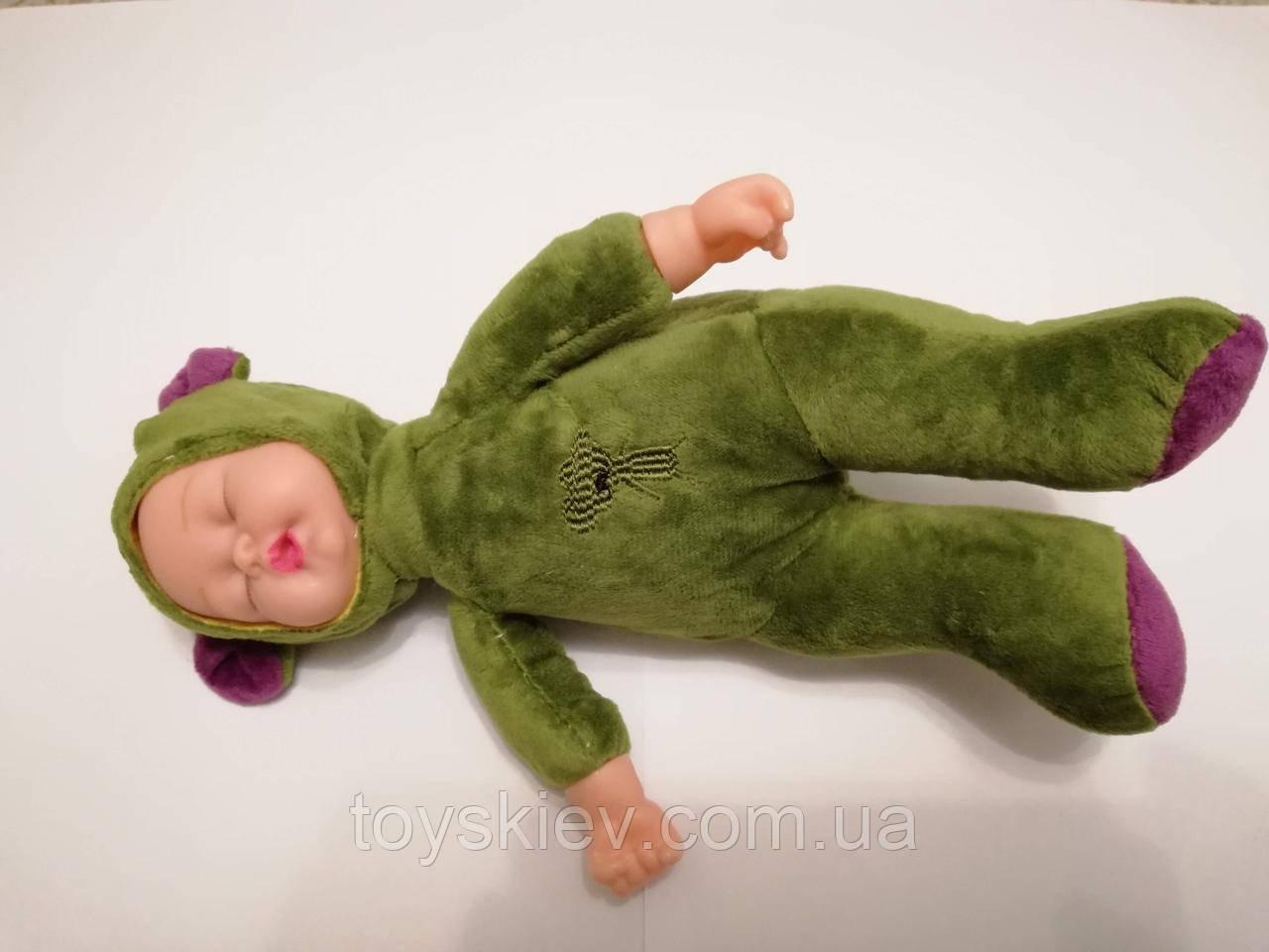 Куклы пупсы аналог Анне Геддес Anne Geddes мишка 25см. Зелёный.