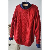 Женский свитер косичка
