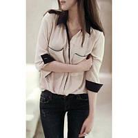 Женская шифоновая рубашка с длинным рукавом, фото 1