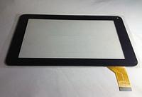 Оригинальный тачскрин / сенсор (сенсорное стекло) Bravis NP71 Kingvina 138 черный длина шлейфа 35мм самоклейка