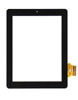 Оригинальный тачскрин / сенсор (сенсорное стекло) для Fly Flylife 9.7 (черный цвет, самоклейка)