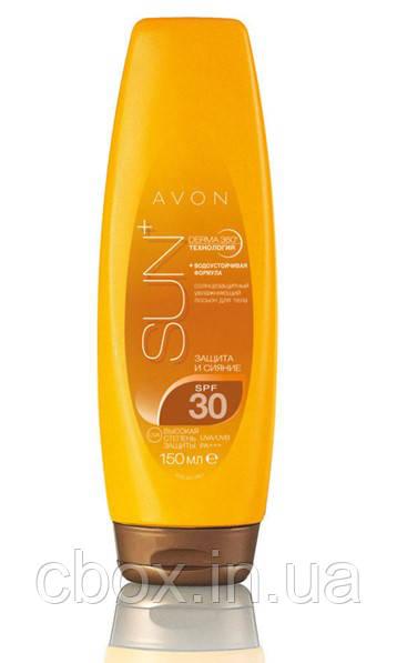 Солнцезащитный увлажняющий лосьон для тела SPF 30 с эффектом сияния, Avon Sun, Эйвон Сан, Ейвон, 93967