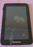 Оригинальный дисплей (модуль) + тачскрин (сенсор) с рамкой для Lenovo IdeaTab A3000 (черный цвет)