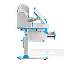 Комплект парта для подростка Sognare Blue + детское ортопедическое кресло Bravo Blue FunDesk, фото 3