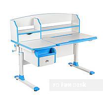 Комплект парта для подростка Sognare Blue + детское ортопедическое кресло Bravo Blue FunDesk, фото 2