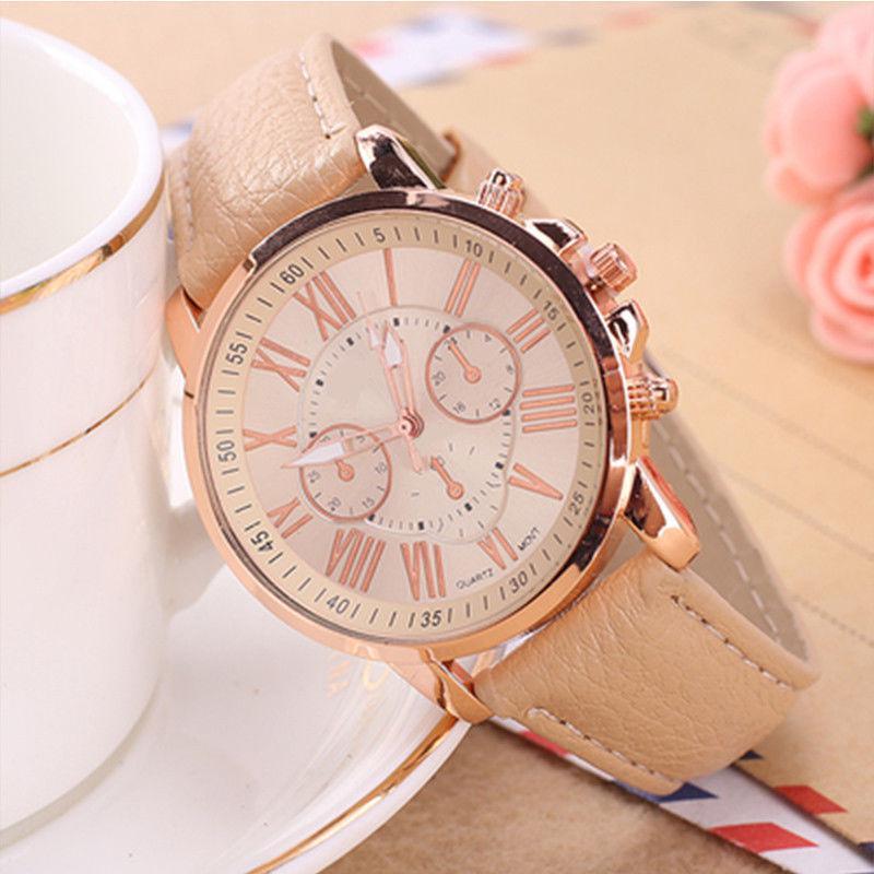 Часы женские Geneva Charm  бежевые