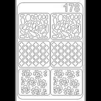 Трафарет № 178 прозрачный, виниловый