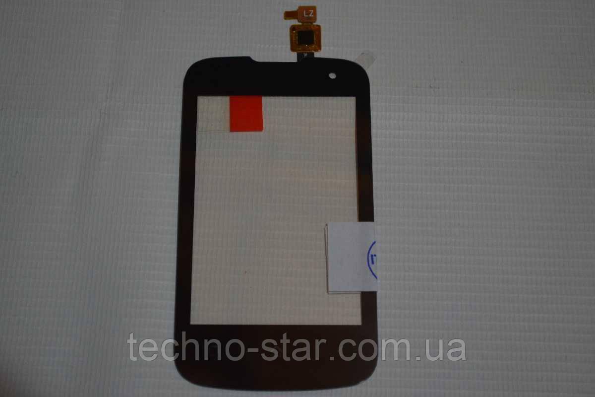 Оригинальный тачскрин / сенсор (сенсорное стекло) для FLY IQ430 (черный цвет, узкий коннектор) + СКОТЧ