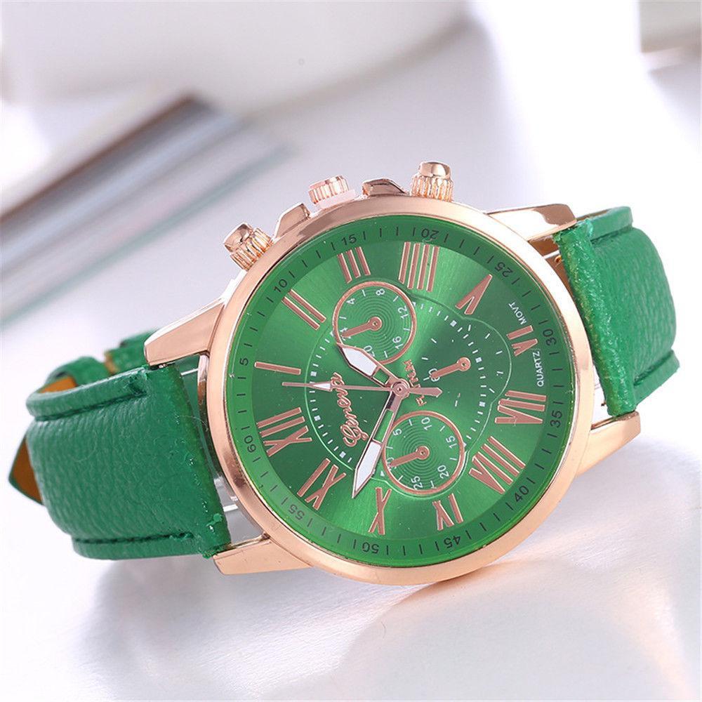 Часы женские Geneva Charm  зеленые Шарм
