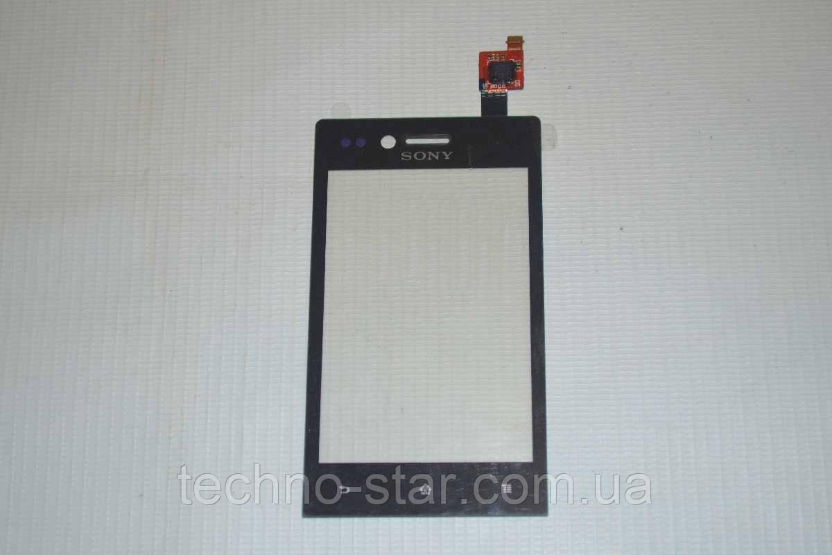 Оригинальный тачскрин / сенсор (сенсорное стекло) Sony Xperia Miro ST23i | ST23a (черный цвет)