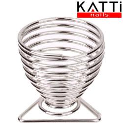KATTI Подставка для спонжа - яйцо metal 03 Silver T серебро треугольник