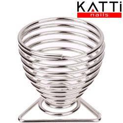 KATTI Подставка для спонжа - яйцо metal 03 Silver T серебро треугольник, фото 2